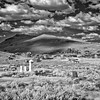 BE127.  Infrared perspective of the graveyard and town.