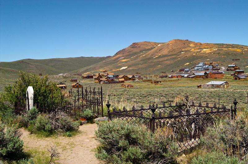BE131.  Bodie graveyard and town.