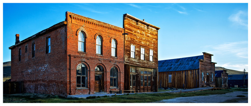 Bodie Hotel in full color. This shot was taken just as the sun was coming up.