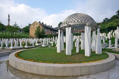 Tomb of Alija Izetbegovic (President during Bosnian War) - Sarajevo