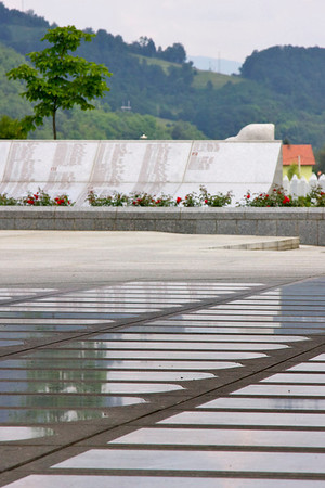 Prayer area, Srebrenica Genocide memorial [about] - Srebrenica/Potocari