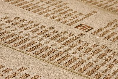 Victim names, Srebrenica Genocide memorial [about] - Srebrenica/Potocari