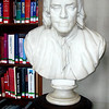 Benjamin Frankin Bust in the Study room at the Boston Public Library