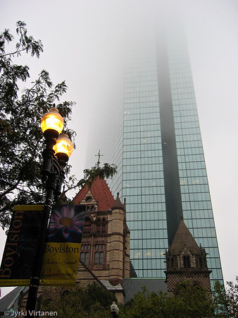 Old Trinity Church & John Hancock Tower III - Boston, MA, USA