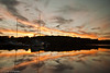 Jamaica Pond Boats at Sunset II - Boston, MA, USA