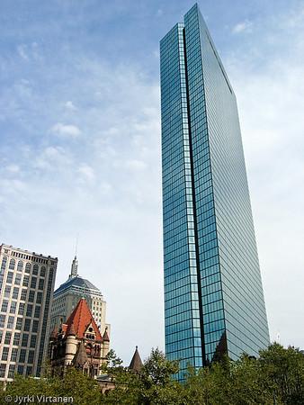Old Trinity Church & John Hancock Tower - Boston, MA, USA