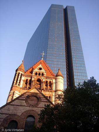 Old Trinity Church & John Hancock Tower II - Boston, MA, USA