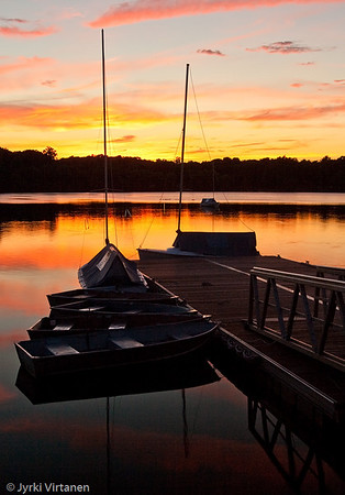 Jamaica Pond at Sunset - Boston, MA, USA