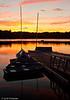 Jamaica Pond at Sunset - Boston, MA, USA
