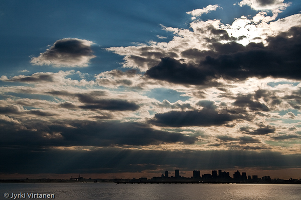 Sunrays over Boston - Boston, MA, USA