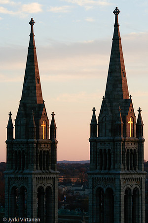Mission Church at Sunset - Boston, MA, USA