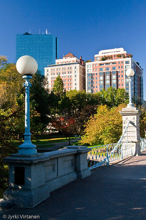 The Worlds Smallest Suspension Bridge, Public Garden - Boston, MA, USA