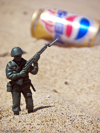 A Brave Toy Soldier at Revere Beach - Boston, MA, USA