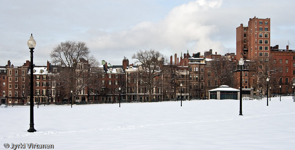 Back Bay in Winter - Boston, MA, USA