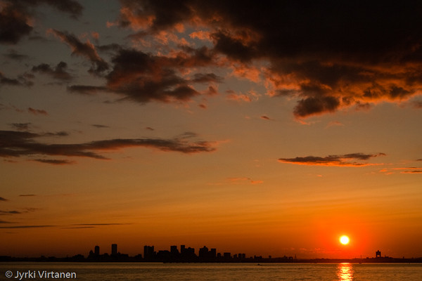 Boston Sunset from Deer Island - Boston, MA, USA