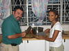 Umberto and Leandra Iori preparing one of many fine dinners at their home in Gaborone, Botswana