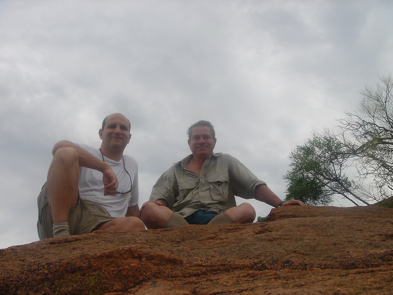 Andrew Goldman and Carlo Iori on top of Mount Kgale, Mt. Kgale, Gaborone, Botswana