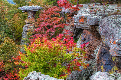 Pedestal Rock in Fall Colors