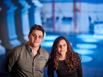 Feb. 1, 2020 - New York, NY   Brandon Stirling Baker (Lighting Design) and Libby Stadstad (Scenic Design) captured in New York's iconic City Centre Theater  Photographer- Robert Altman Post-production- Robert Altman