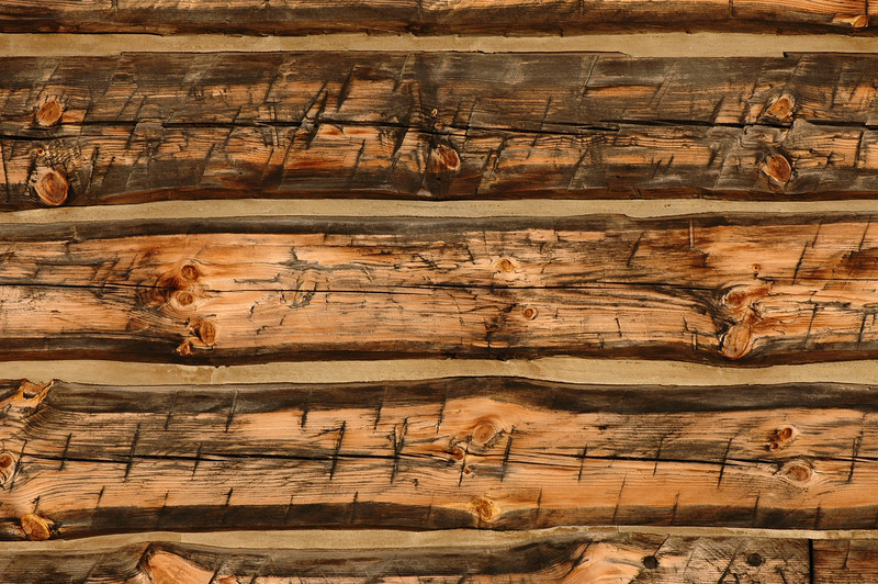 Rough Cut Log Cabin Wall I
