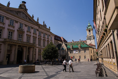 Square with Government buildings, Bratislava