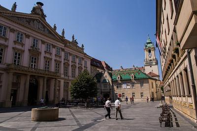 Square with Government buildings, Bratislava