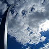 Title: Air Force Memorial South Arm<br /> Date: October 2006<br /> One of the three arms of the Air Force Memorial, overlooking the Pentagon Building in Virginia.
