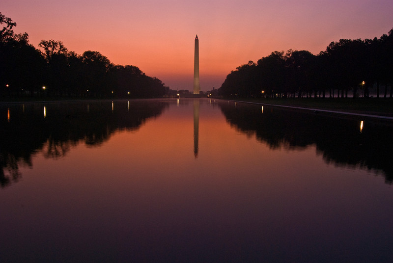 Title: At Dawn<br /> Date: September 2008<br /> The Washington Monument at dawn.