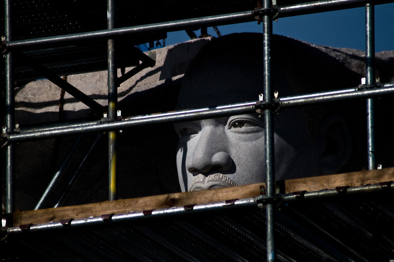 Title: The Eyes<br /> Date: December 2010<br /> Martin Luther King Statue still being assembled.
