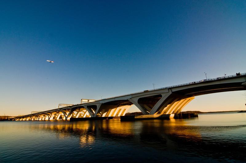 Title: Crossroads<br /> Date: December 2008<br /> The Wilson Bridge at sunset.