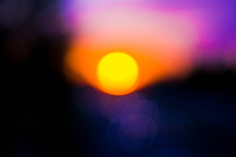 Title: Abstract Sunset<br /> Date: September 2009<br /> A sunset, deliberately out of focus, along Maryland's Route 50.