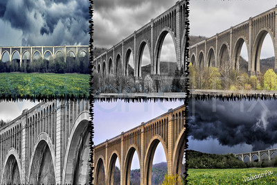 Nicholson Bridge Collage