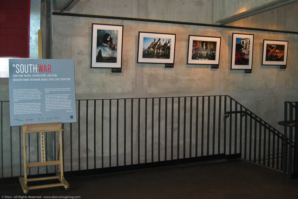 """SOUTH: WAR"" – War photographic works by Sean Flynn, Tim Page, Stephen Dupont, David Dare Parker, Jack Picone, Ben Bohane, Michael Coyne & Ashley Gilbertson - Brisbane Powerhouse (theatres & galleries), New Farm, Brisbane, Queensland, Australia; 11 May 2010."
