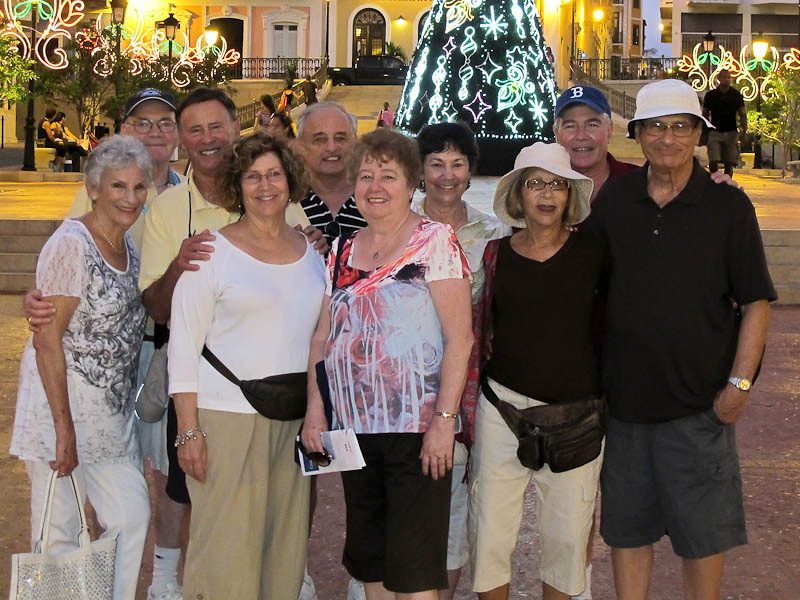 Part of the group in San Juan