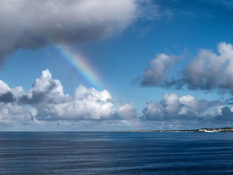 Another mid-ocean rainbow