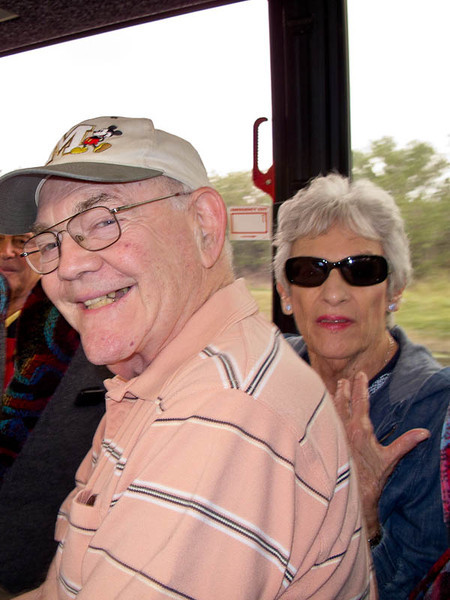 Gerry and Judy on the bus