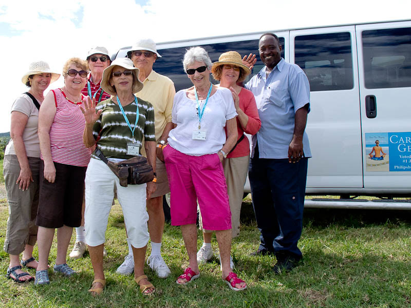 Our tour group on St. Matin/St. Marteen