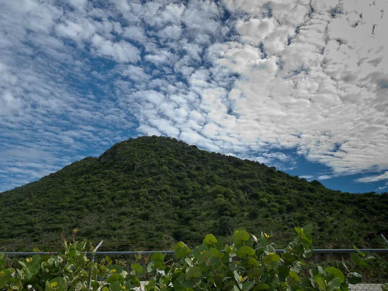 St. Martin volcanic mountain