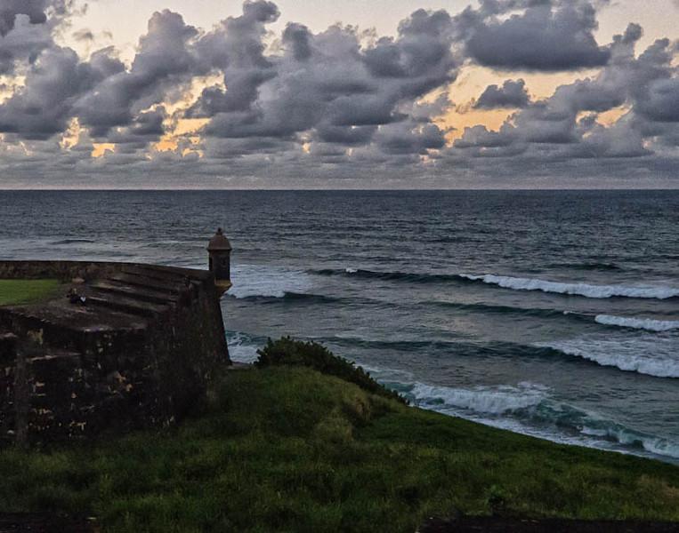 Fort detail at dusk