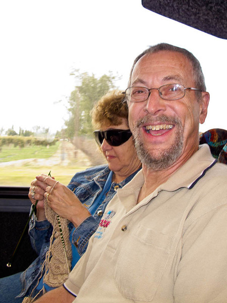Herm and Zora on the bus