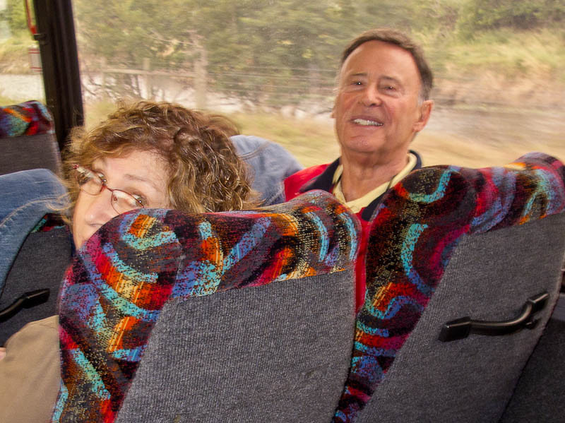Gerry and Lori on the bus
