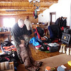 Drying gear at Iniakuk Lodge
