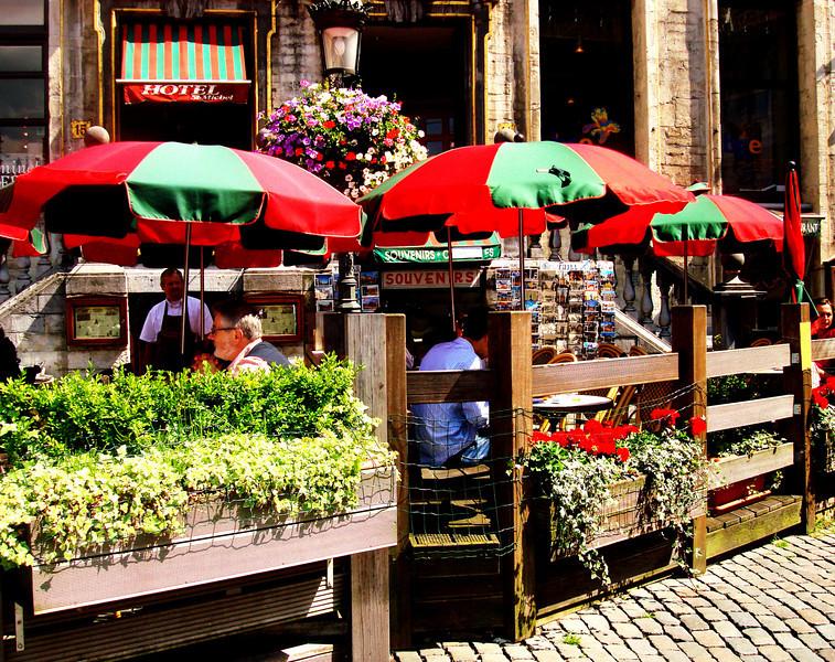 Cafe in Brussels Belgium