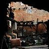"""Mirage ou decor surrealiste pour des photos """"glamour""""?<br /> Apres le feu de mai 2008, une des plus vieilles constructions de la plus ancienne industrie de Bucarest, Moara Assan (1853) reste sous le ciel ouvert ... aout 2009."""