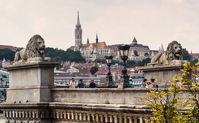 St Matthias Cathedral view from Chain Bridge, Budapest, Hungary