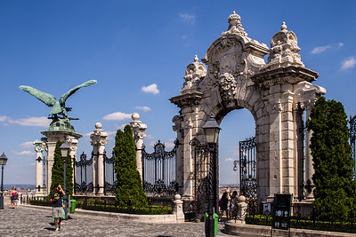 Castle Gates and the Turul bird, Budapest