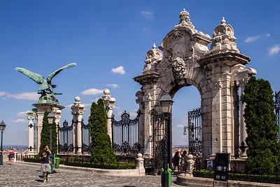 Castle Gates and the Turul bird, Budapest