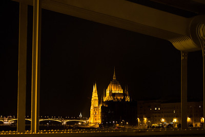 Parliament house from the Chain Bridge, Budapest, Hungary