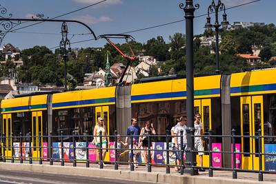 Tram stop, Budapest