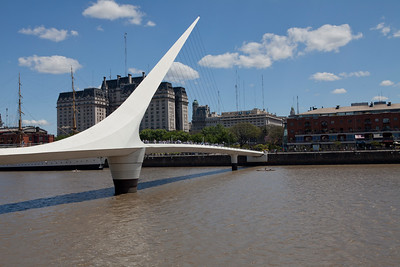 BA 129  Puente de la Mujer (Woman's Bridge), Puerto Madero district.  All streets named after women.